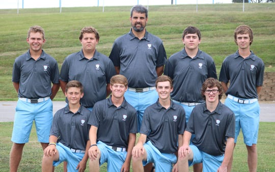 2018 Braves Golf Team  Back Row:  (L to R) Hanner Cardwell, Avery Welden, Jeremy Curtis, Christian Cambron, Sawyer Stevens Front Row:  (L to R) David Kramer, Ethan Wallace, Kent Davis, Lane Straub
