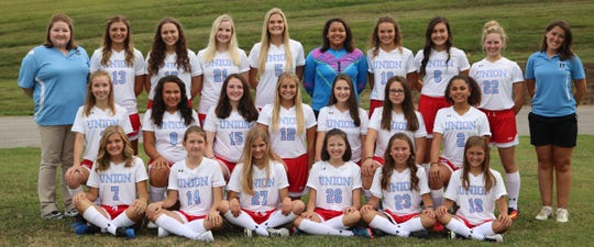 2018 Bravettes Soccer Team  Front Row: (L to R) Gabby Venson, Jada Holmes, Lera Adams, Mallory Hassel, Grace Gough, Jade Williams Middle Row: (L to R) Catie Moberg, Presley Price, Maggie White, Anna Wheatley, Jordan Bealmear, Emily Payne, Kylee Long,  Top Row:  (L to R) Coach Rachel Hubbard, Emily Hagan, Lauren Hagan, Audrey Davis, Olivia Wheatley, Paige Price,  Ansley Beaven, Anna Ervin, Mary Oxford, Coach Alicia Pike Elliott Missing from photo is Coach Kate Bickett