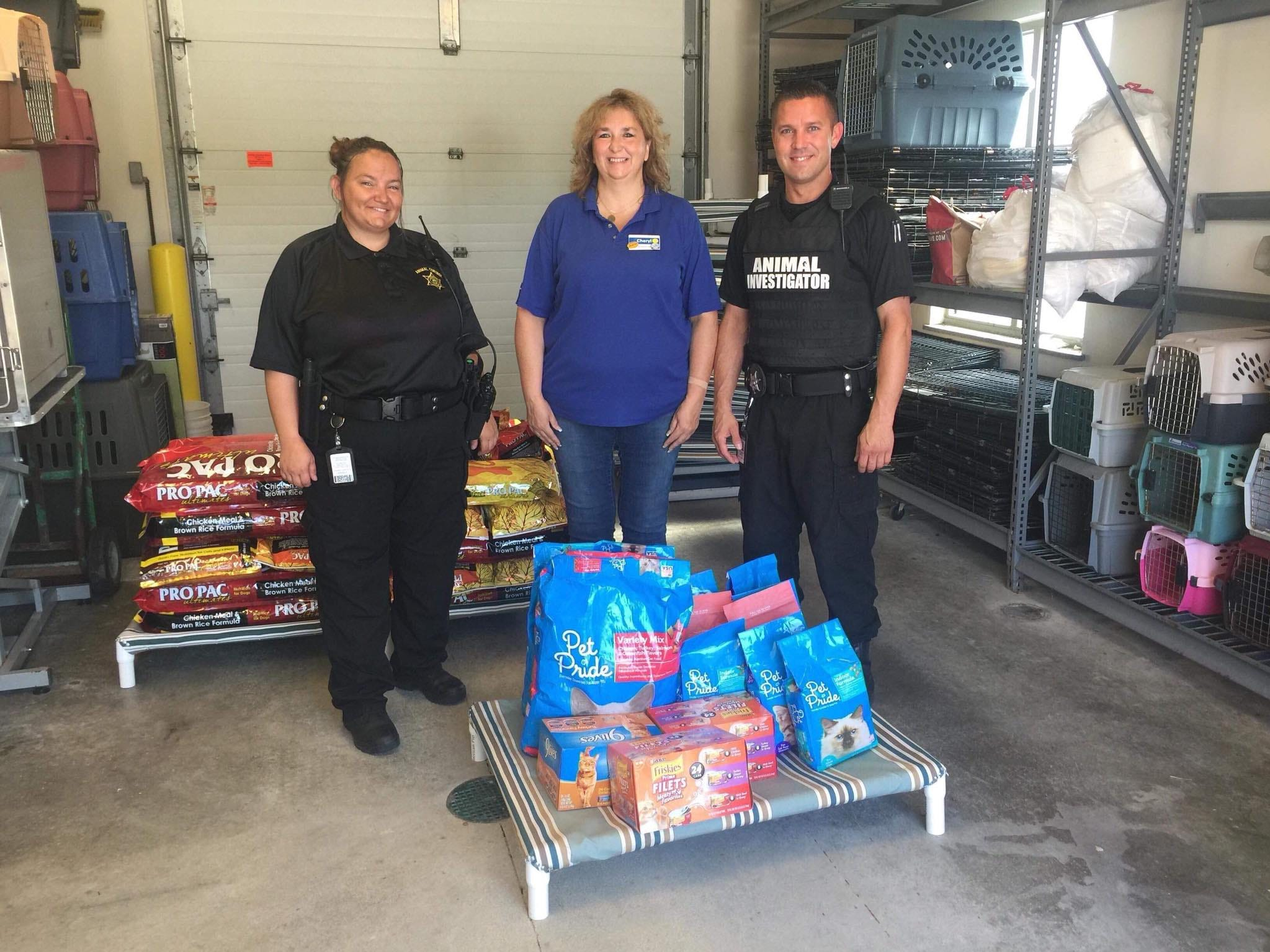 The Danville Kroger sent over supplies to help out the Hendricks County Animal Shelter.