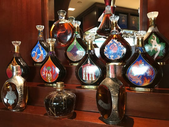 The Glass Chimney owner/chef Dieter Puska collected fine cognacs that he served before the 32-year-old restaurant closed in 2008. When the owners' of Anthony's Chophouse in Carmel acquired The Glass Chimney bar, they got the cognacs, too. Some of them sell for more than $300 a glass. The upscale steakhouse Anthony's Chophouse is scheduled to open Aug. 13, 2018, at 201 W. Main St., Carmel.