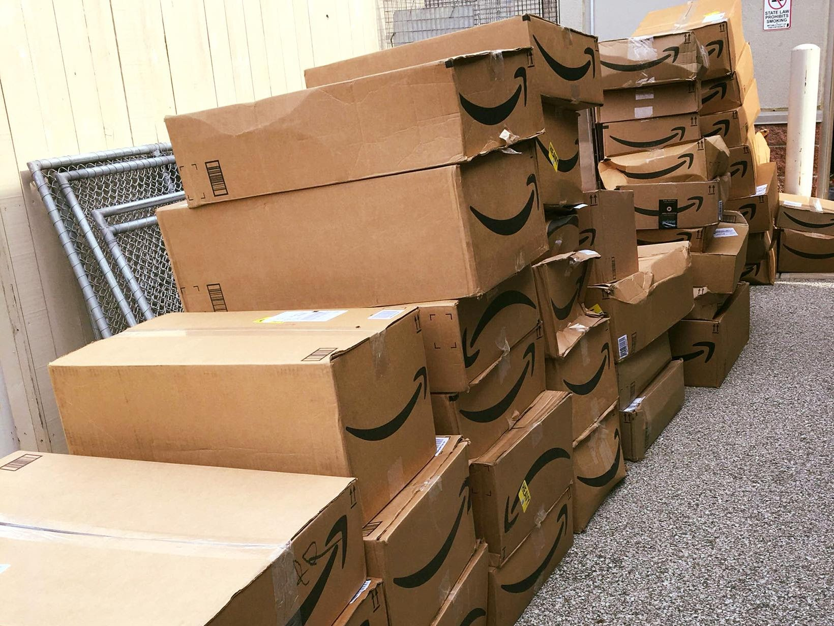 These Amazon packages accounted for some of the 177 boxes of donations delivered to the Hendricks County Animal Shelter by UPS and FedEx on Friday, Aug. 10.