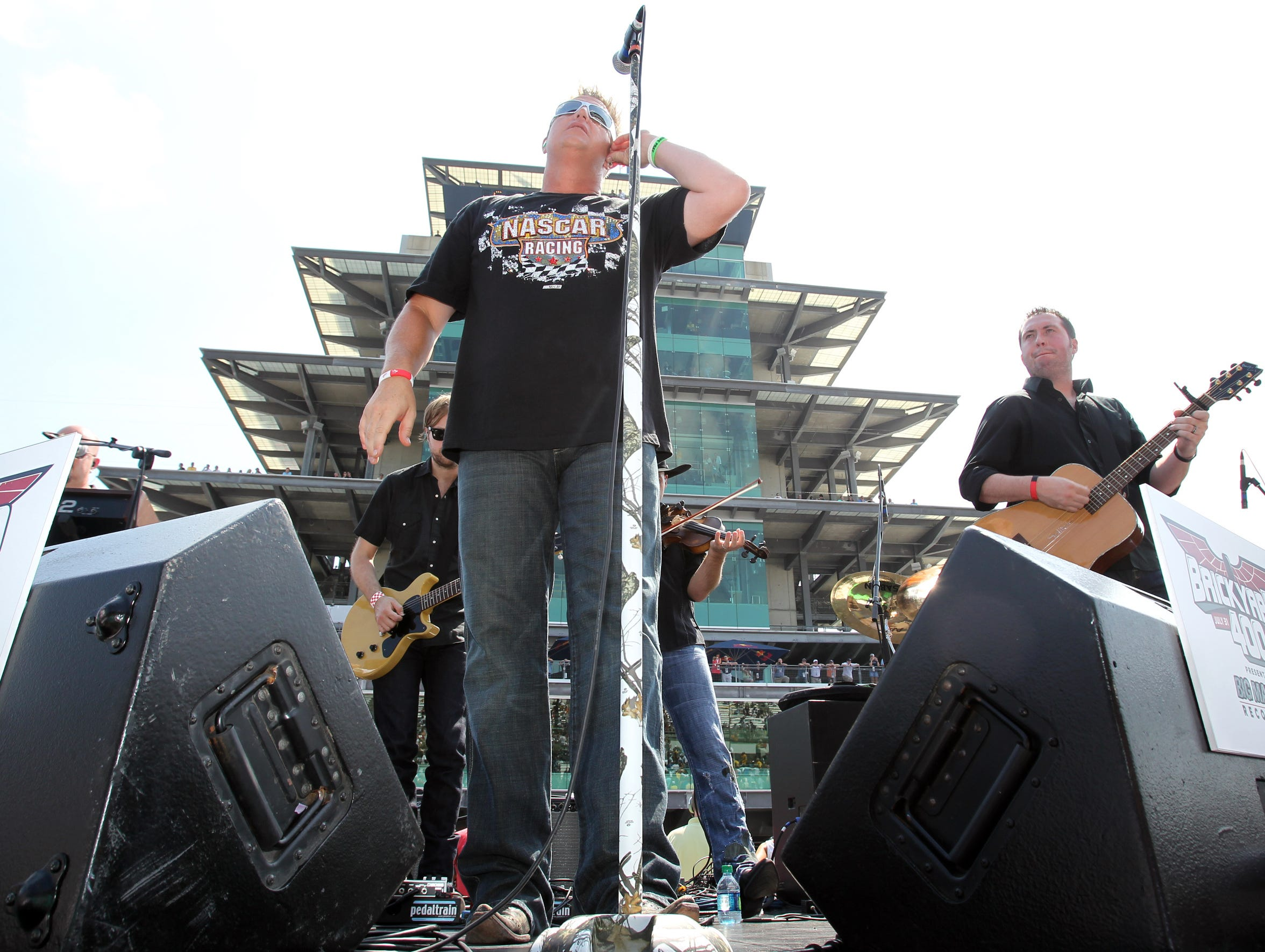 Rascal Flatts performs at the yard of bricks, pre-race action, Brickyard 400, Indianapolis Motor Speedway, Speedway, IN, Sunday, July 31, 2011.