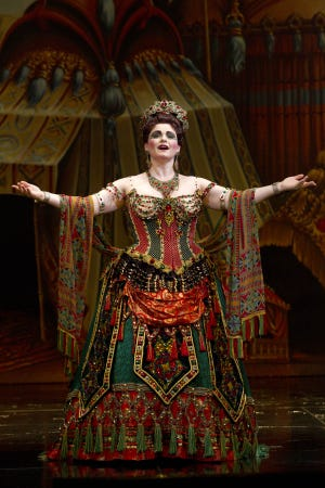 "Michele McConnell was promoted from being an understudy to play ing Carlotta in ""Phantom of the Opera."" She'll be singing in Indianapolis in December."