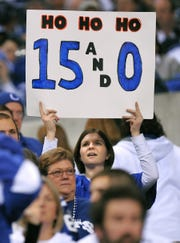 Fans came looking for the Colts to extend their winning record.