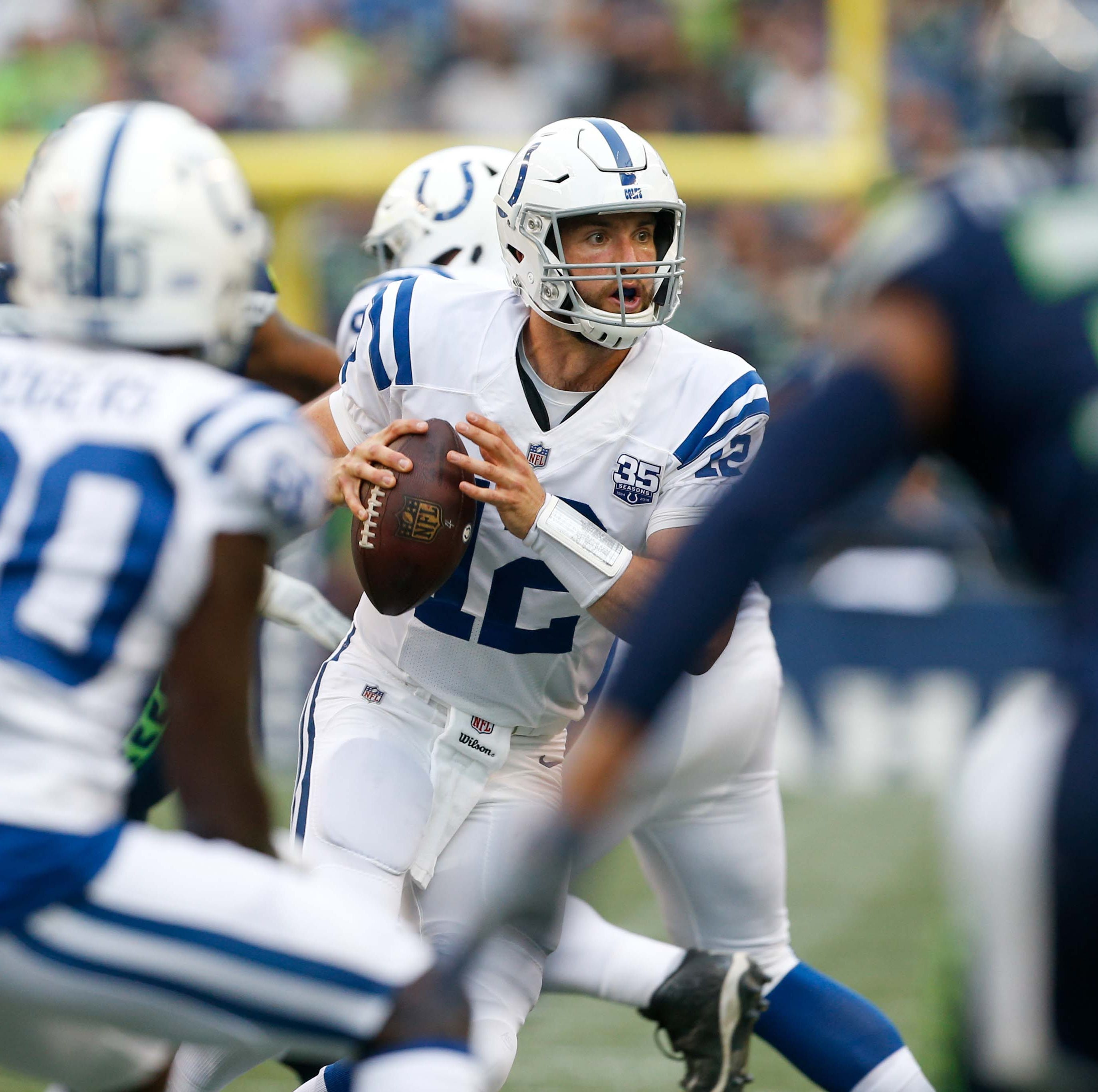 Colts QB Andrew Luck says he feels 'sharp' in preseason debut against the Seahawks