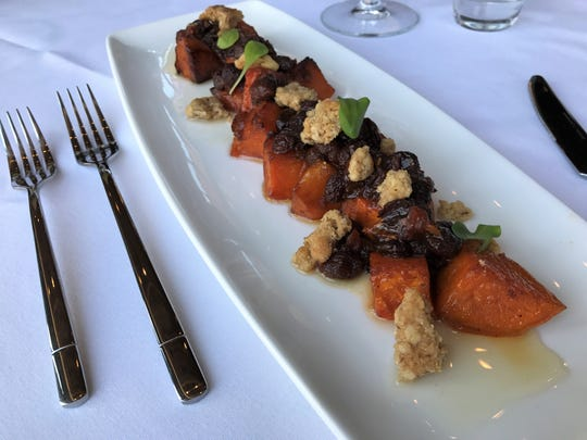 Anthony's Chophouse side dishes are far from the usual classic steakhouse spinach, as evidenced by spiced roasted yams with walnut crumble and raisin and shallot chutney at. The upscale steakhouse scheduled to open Aug. 13, 2018, at 201 W. Main St., Carmel.