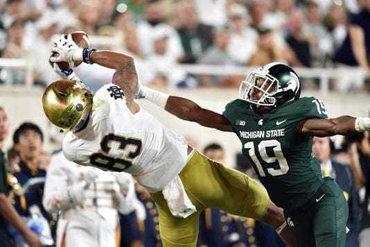 Ncaa Football Notre Dame At Michigan State