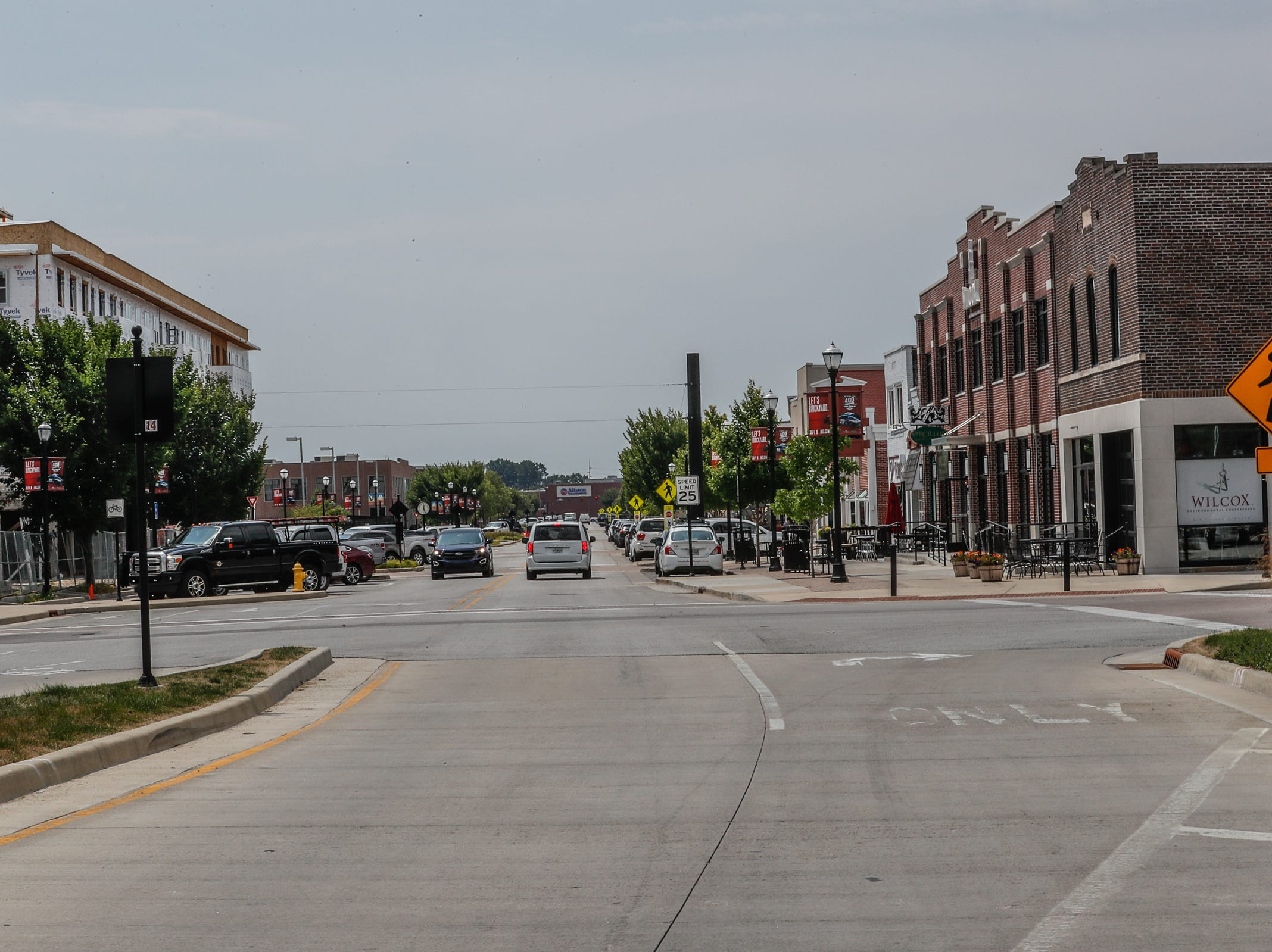 View of Main Street  Speedway Indiana, shown here on Friday, Aug. 3, 2018.
