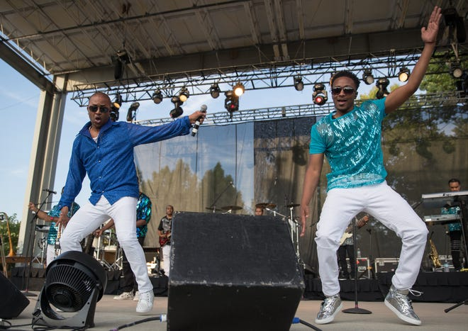 Kool and the Gang performs Thursday at the Indiana State Fair.