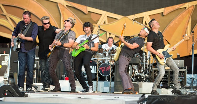 Rascal Flatts performs, as an opener before the Rolling Stones concert at the Indianapolis Motor Speedway, Indianapolis, Saturday, July 4, 2015.