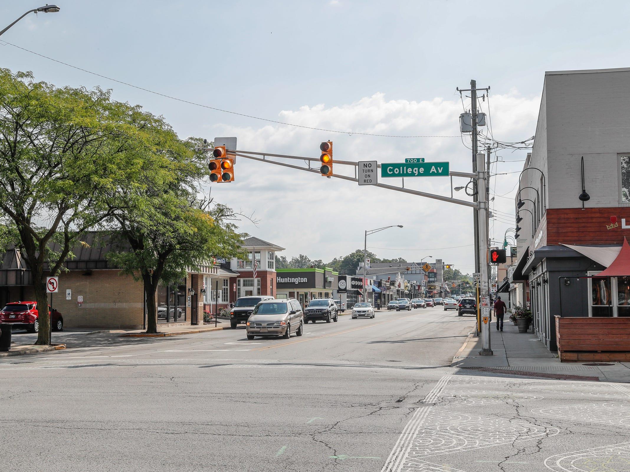 The street scene in 2018.