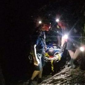 Woman rescued near 60 foot dam on Six Mile Creek