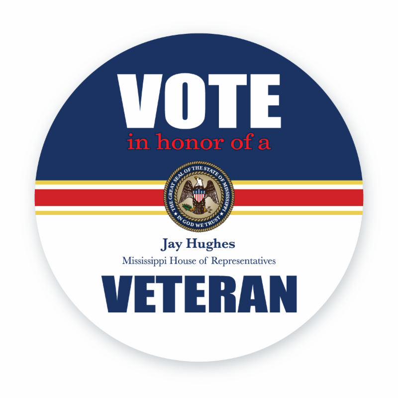 Battle of election stickers continues: MSGOP blasts Rep. Jay Hughes 'vote for vet' decals | Clarion Ledger