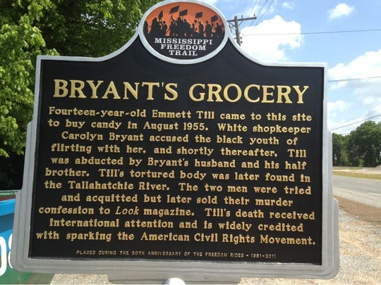 The first Mississippi Freedom Trail marker was put up outside what was once Bryant's Grocery & Meat Market in Money, just 10 miles north of Greenwood.