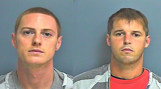 Darrell Smith, left, and Lance A. Mitchell were charged with possession for resale of cocaine, marijuana, phentermine, LSD, ecstasy and psychedelic mushrooms.