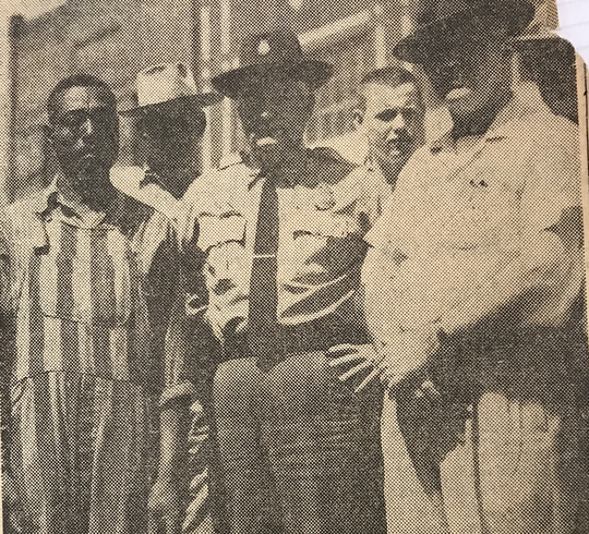 William Tines after his capture in Roane County