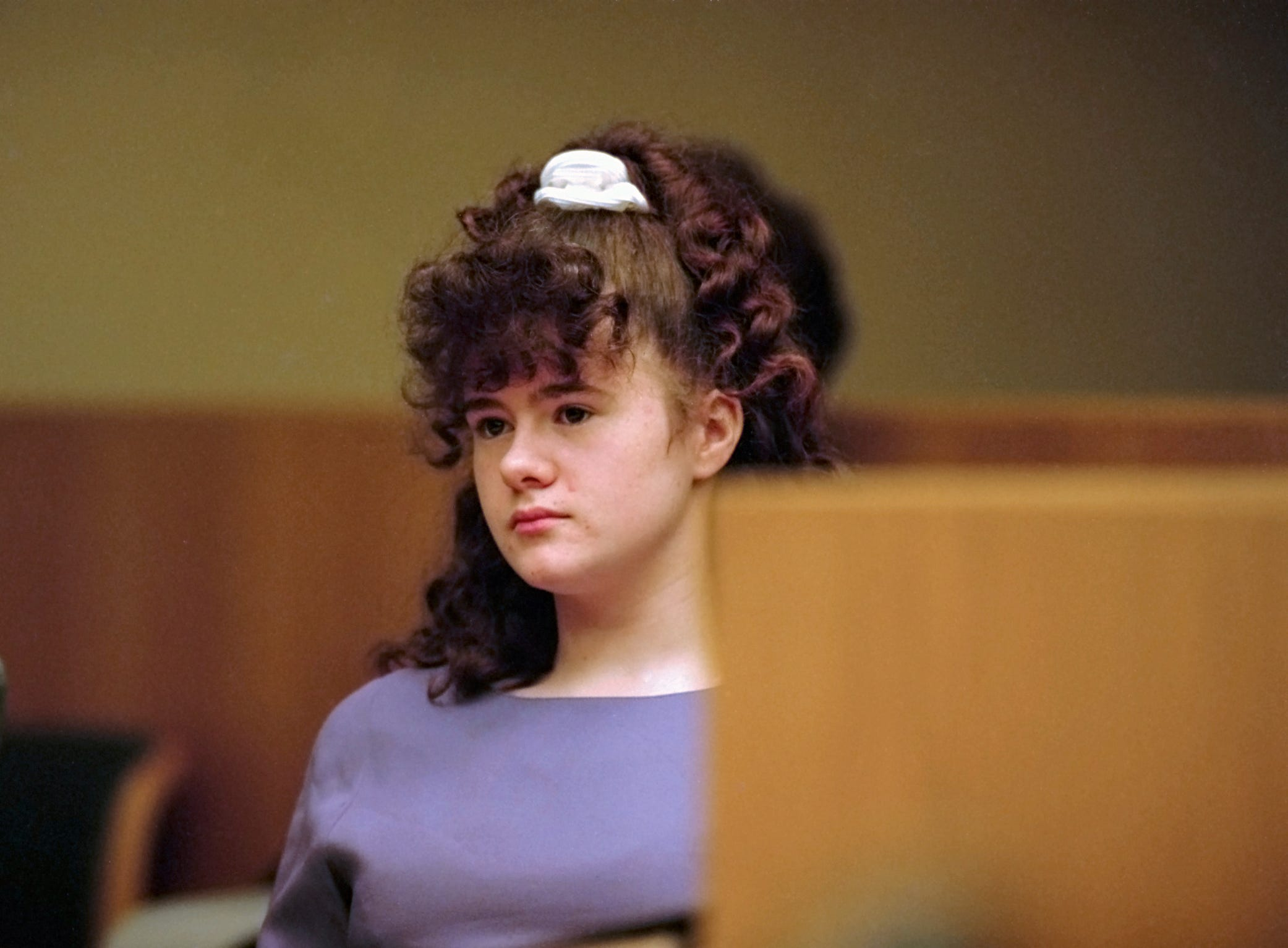 Christa Gail Pike in court for a motion hearing Tuesday, Jan. 23. 1996.