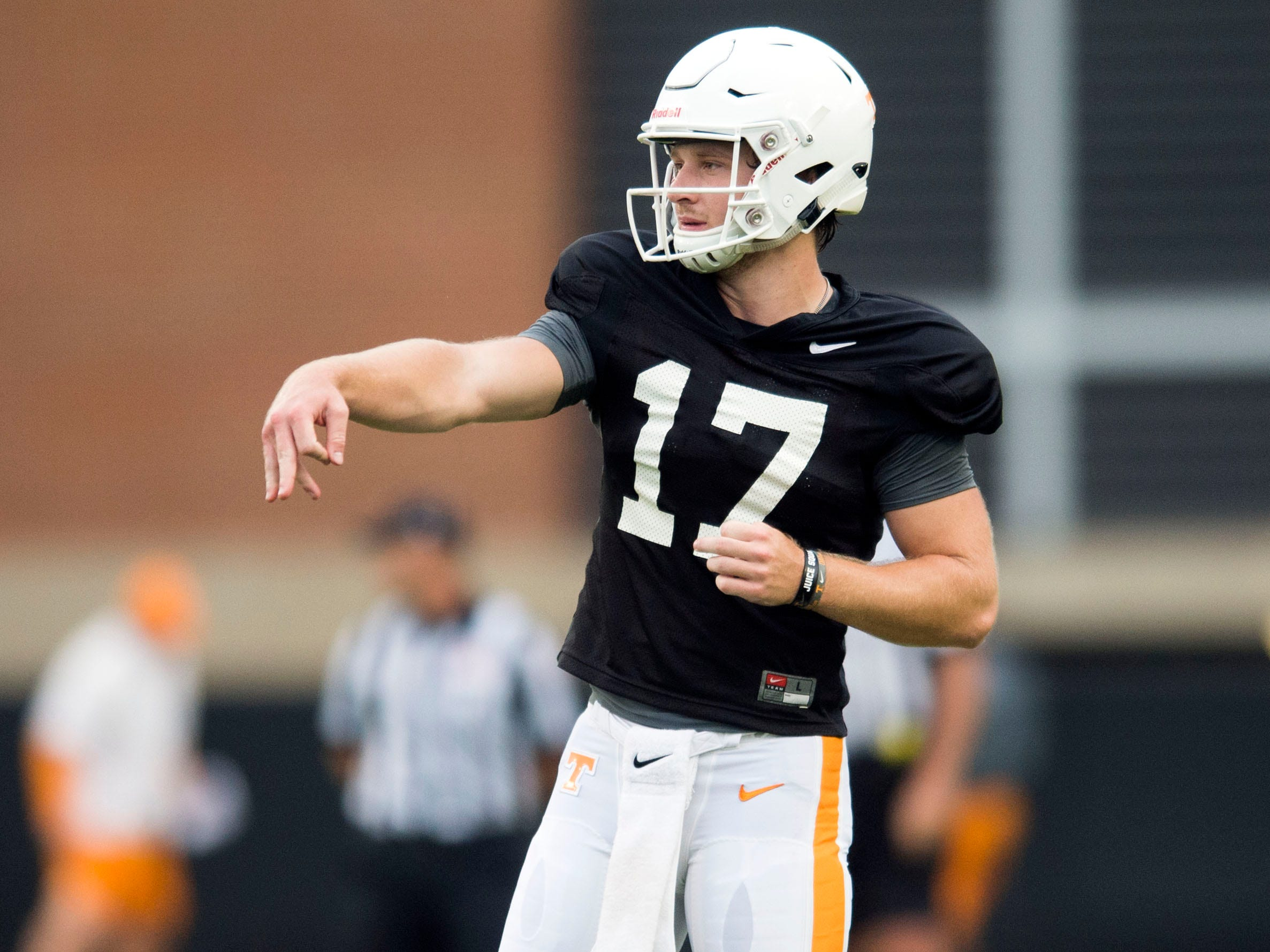 Tennessee quarterback Will McBride during football practice at Haslam Field on Thursday, August 9, 2018.