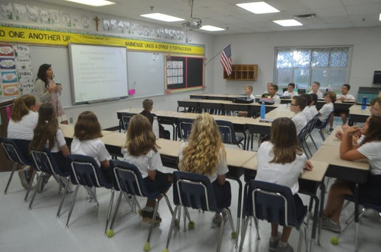 Fourth and fifth grade students at Sacred Heart no longer have most of their classroom time under the instruction of one teacher. August 2018