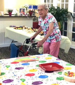 Ruby Ramsey at her 100th birthday party