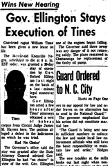 News Sentinel story from May 12 1959 on William Tines.