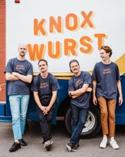 The KnoxWurst Crew: Eric Kinder, John Human, Jack Human and Andrew Kinder. August 2018