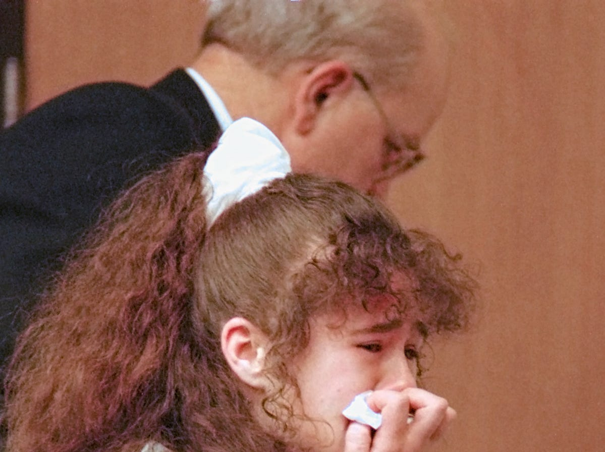 Christa Gail Pike is escorted from Knox County Criminal Court on March 30, 1996, after being sentenced to death for the murder of Colleen A. Slemmer.