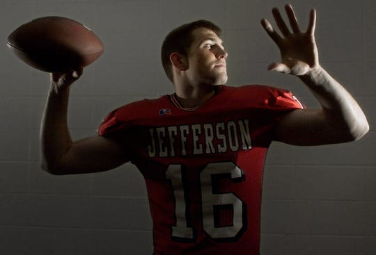 Record-setting Lafayette Jeff quarterback Mike Vlahogeorge was the Journal & Courier's Big School Offensive Player of the Year in 2003.