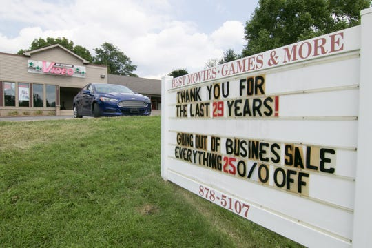 Best Entertainment Video in Pinckney, shown Friday, Aug. 10, 2018, will close its doors soon after selling its stock.