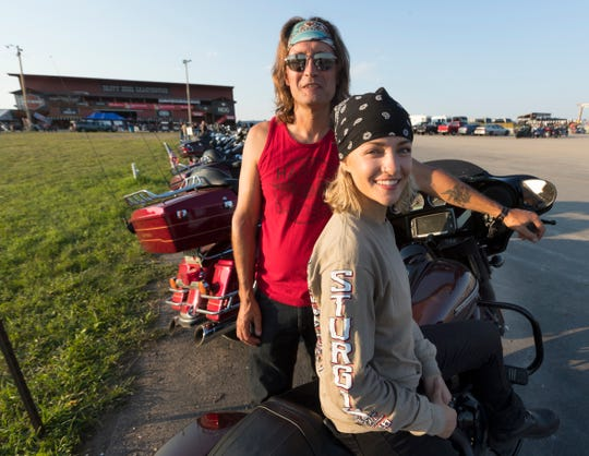 Harley-Davidson intern Tess Otto rode to Sturgis, S.D., with her father, Greg.