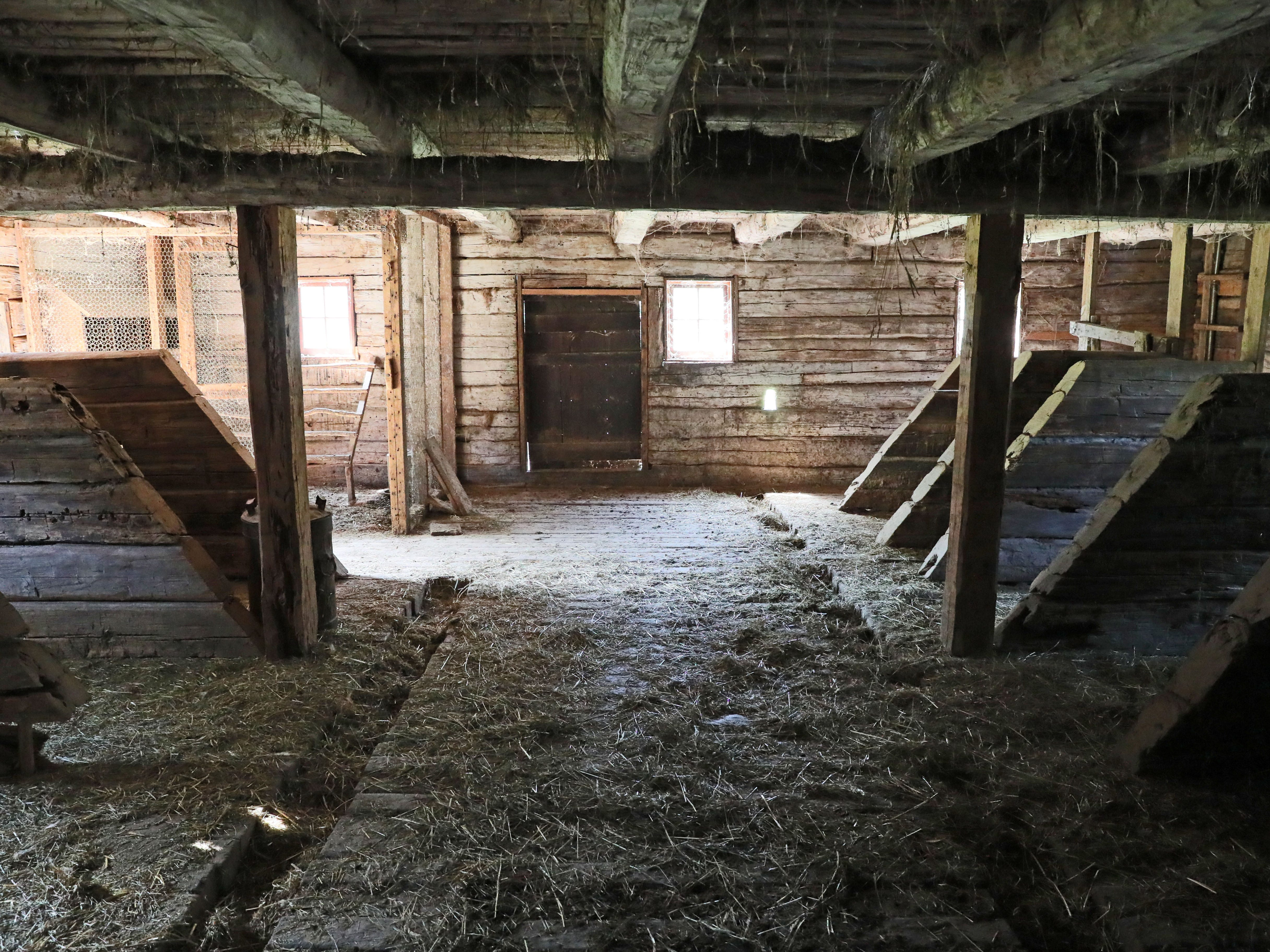 This barn on the Old World Wisconsin grounds is similar to barns used by the Swedish community in 1847.