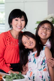 Alice Choi, shown here with daughters Madeline, 7, and Phoebe, 11, blogs at Hip Foodie Mom.