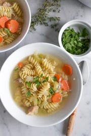 This chicken noodle soup is fully homemade but surprisingly easy.