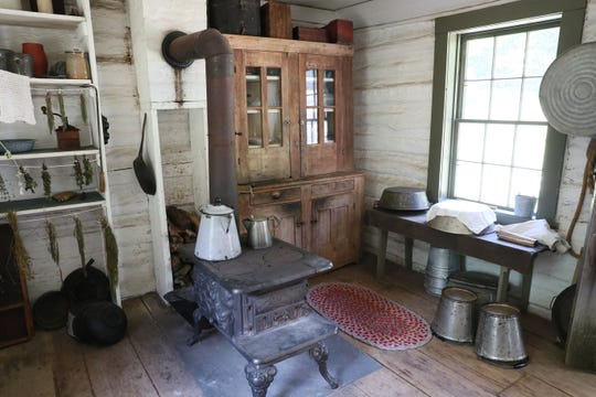 This is the kitchen of an 1890s Danish home on the Old World Wisconsin grounds. The home is similar to what Swedish immigrants built in 1843 at Lake Koshkonong.