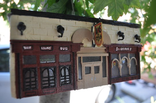 A birdhouse with a very detailed depiction of Three Lions Pub was found on a tree outside the Shorewood tavern on Aug. 10.