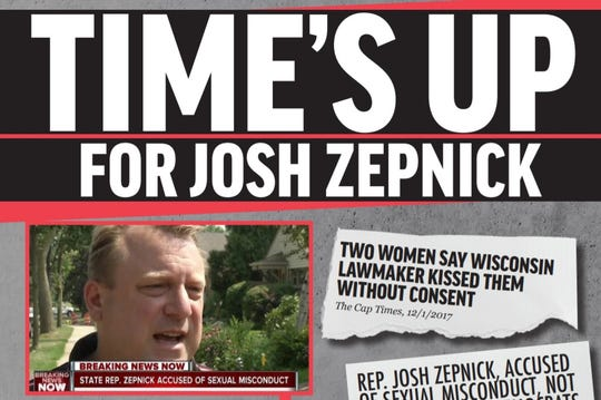 Marisabel Cabrera, who is challenging Rep. Josh Zepnick in the 9th Assembly District, released a campaign mailer this week criticizing Zepnick for allegedly kissing women against their will.