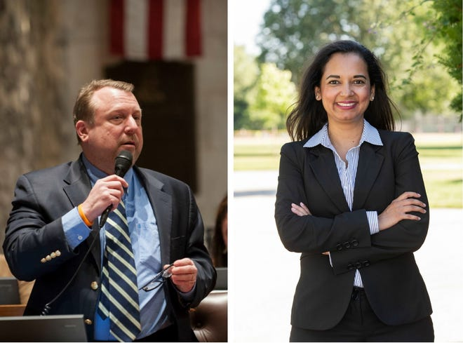 Rep. Josh Zepnick and Democratic challenger Marisabel Cabrera