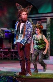 "Sam Douglas, left, as Bottom and Denice Hicks as Puck in ""A Midsummer Night's Dream."""