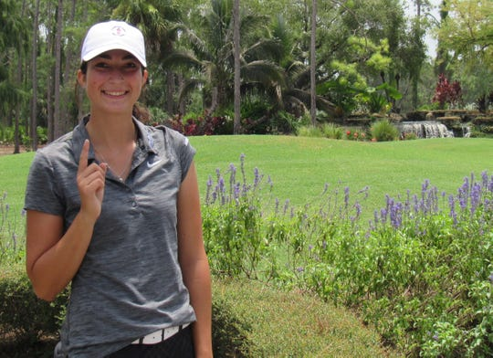 Indianapolis' Aneta Abrahamova made a hole-in-one on No. 3 on the Creek Course at Quail Creek Country Club in the first round of the Florida Women's Open on Friday, Aug. 10, 2018. She used an 8-iron from 155 yards.
