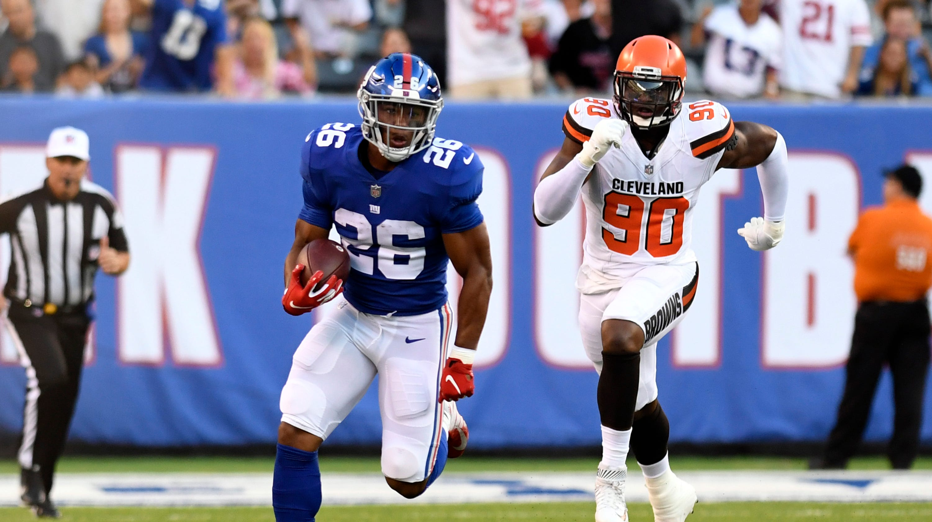 e319fb1e7 NY Giants  Curtain drops on Saquon Barkley show and he doesn t disappoint