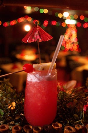 The Hawaiian Sunset drink is served at Lee's Hawaiian Islander in Clifotn December 20, 2001.