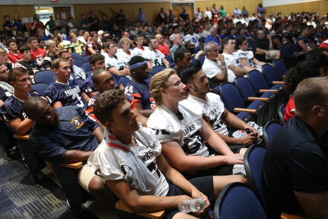 Players and coaches gathered at Wayne Valley High School for Super Football Conference Media Day. Thursday, Aug. 9, 2018