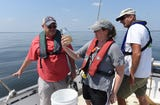 Members of NY/NJ Baykeeper trawl the region's waterways to document and quantify how much small plastics are in our rivers and bays.