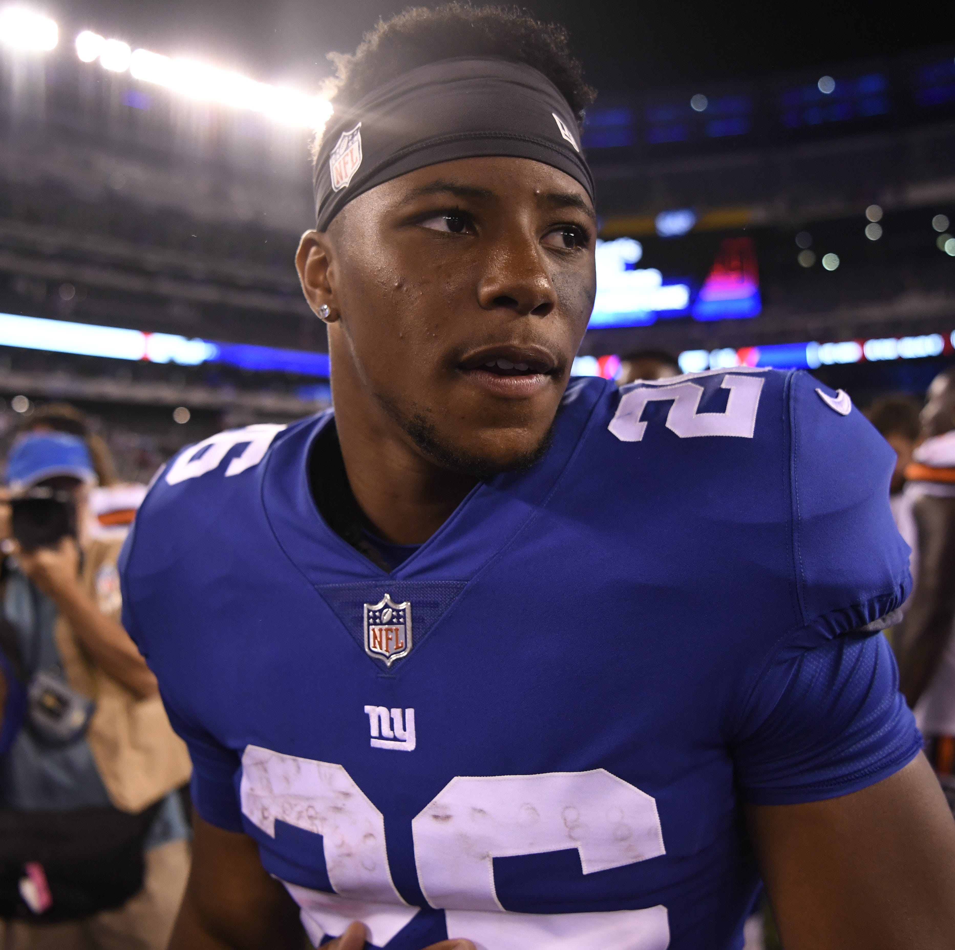 Saquon Barkley wows at NY Giants practice with big catch followed by first scare of camp