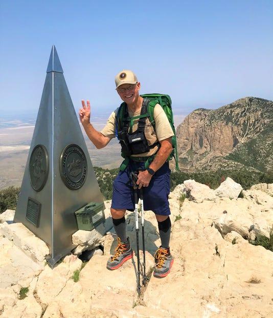 Judge Robert Junell hikes Guadalupe Peak