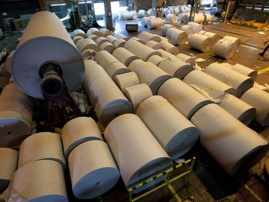 The Trump administration imposed a second round of tariffs in March after finding that some imports of Canadian material used in newsprint were being sold at below-market rates in the United States.