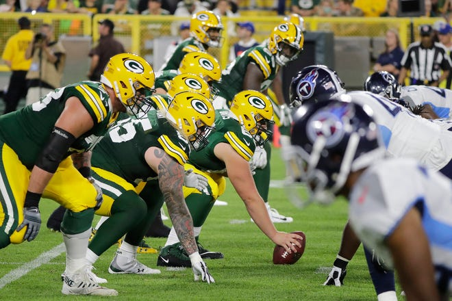 The Green Bay Packers against the Tennessee Titans in an NFL preseason game at Lambeau Field on Thursday, August 9, 2018 in Green Bay, Wis. 