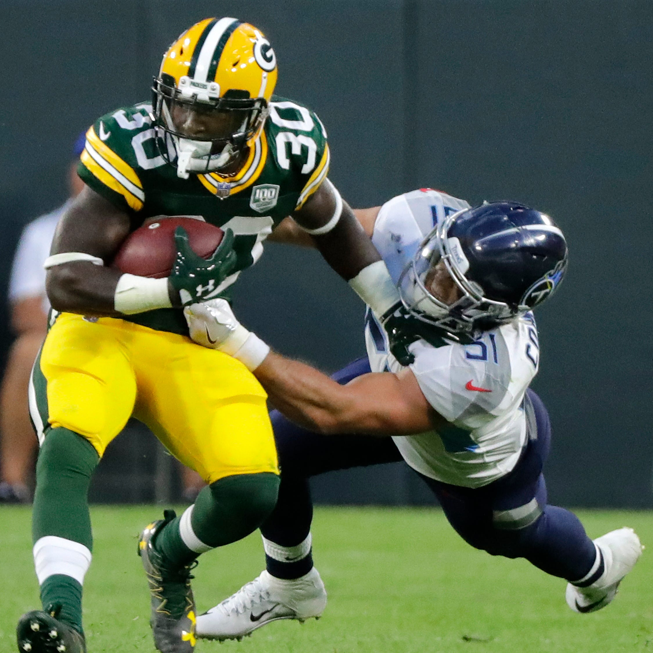 Packers' Jamaal Williams calls tackle that injured ankle 'most definitely' a dirty play