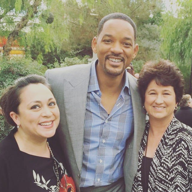 (L to R) Xochitl Pena, Will Smith and Denise Goolsby at the Variety Brunch at Parker Palm Springs.