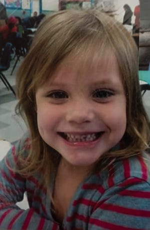 A photo of 5-year-old Kaylen Thompson provided to the Pensacola News Journal by family members on Aug. 10, 2018.